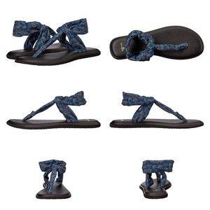 Sanuk Shoes - Sanuk Yoga Sling Ella Print Navy Paradise Palms
